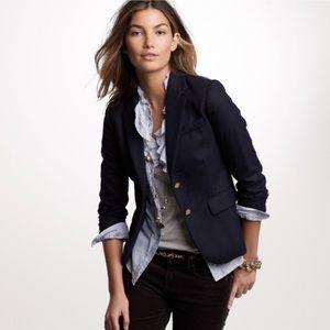 New! J. CREW Navy Wool Blazer